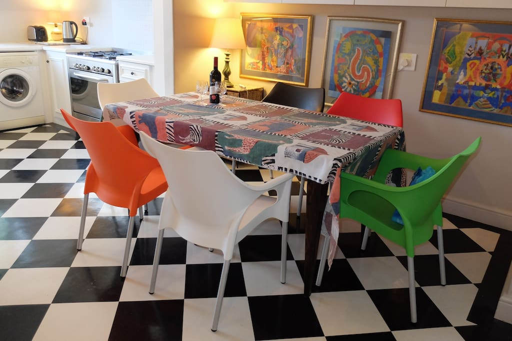 Bright colorful Italian chairs