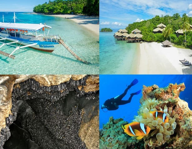 Explore Samal Island:  Dive, Island hopping, Montfort Bat Sanctuary, Vanishing Island, Maxima Aquafun, Hagimit Falls