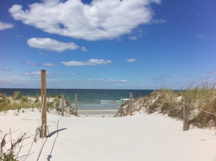 White Sand beach in a private enclave