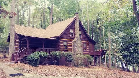 Real Log Cabin on Lake Lanier