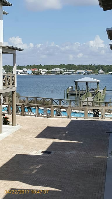 Lagoon View of Dock and Pool