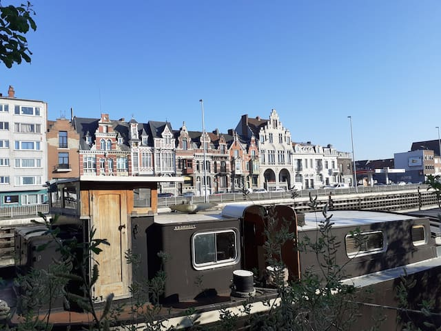 Romantic boat in Gent