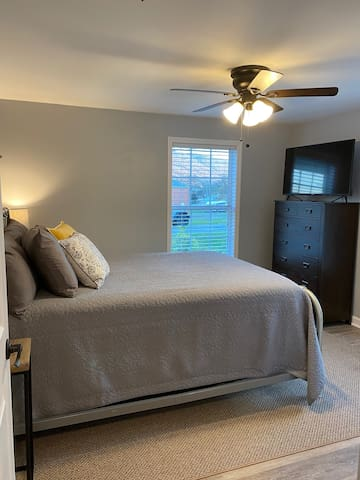 Front bedroom - view of Lookout Mountain - TV includes Amazon fire stick
