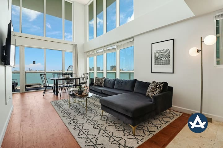 Sextant | 2-Story Waterfront Condo #6 | Heated Pool | 10 mins to Miami Beach