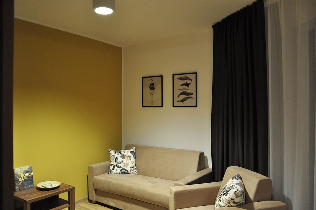 Living room with cosy sofa