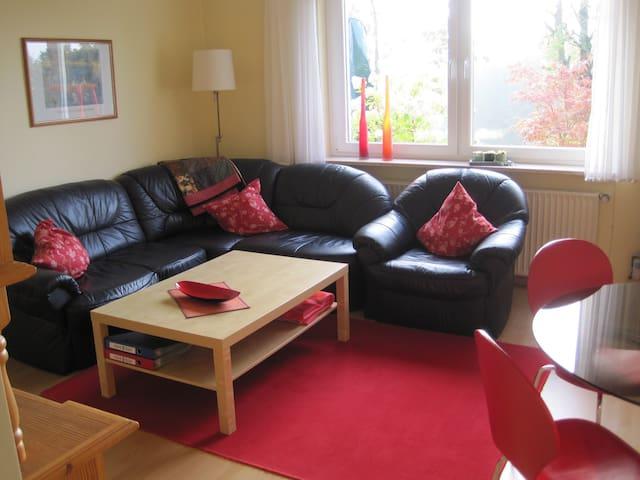 Ferienwohnung Trapp (Winterberg/Langewiese) -, Ferienwohnung mit herrlicher Aussicht, Terrasse und Sauna, 2 Schlafzimmer, 1 Wohnzimmer