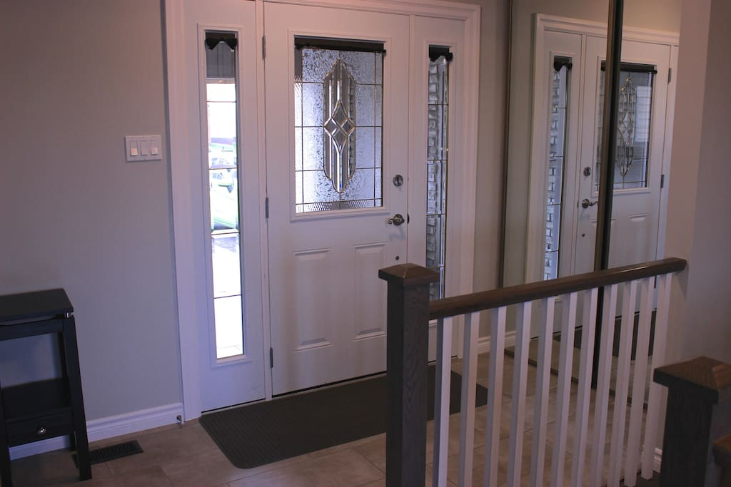 Front entrance with large closet.