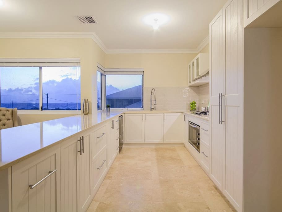 Fantastic fully equipped  kitchen with fabulous ocean views