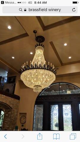 Brassfield winery, ask the host about this beautiful chandelier