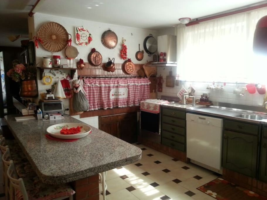 Very large and well equipped kitchen