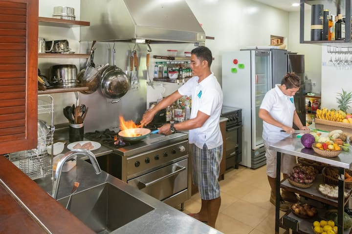 Your personal chef preparing your sumptuous meals.