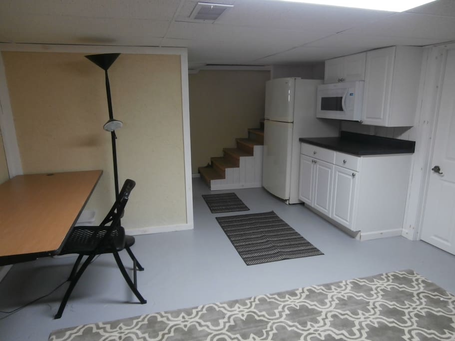 Kitchenette and study/office area