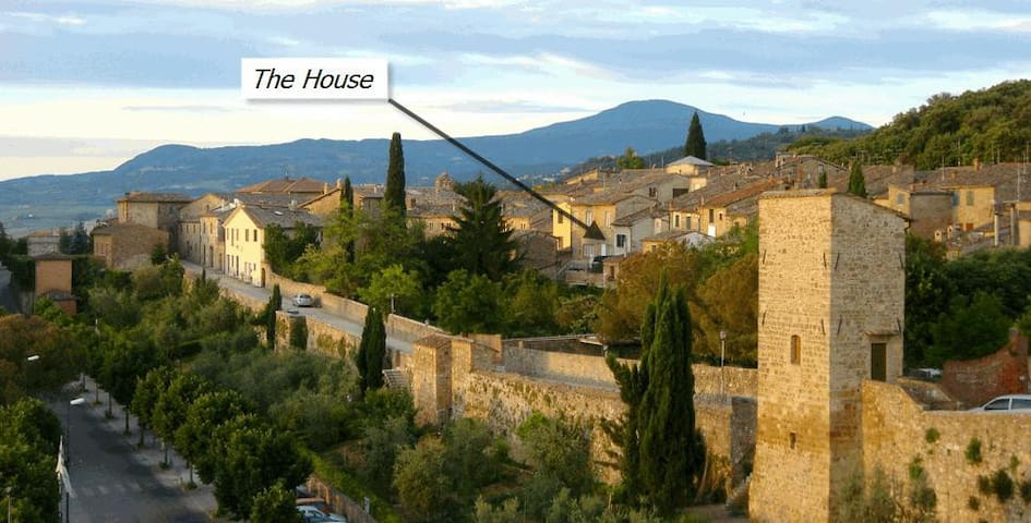 Casa Osenna Townhouse - Sat to Sat - San Quirico d'Orcia - Stadswoning