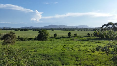 Stunning views, self contained farm cottage