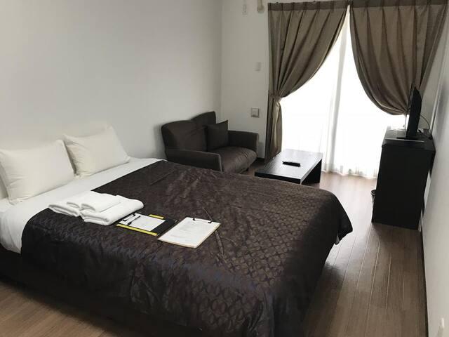 Cozy Stay In Urasoe 1Bedroom Apartment Double room