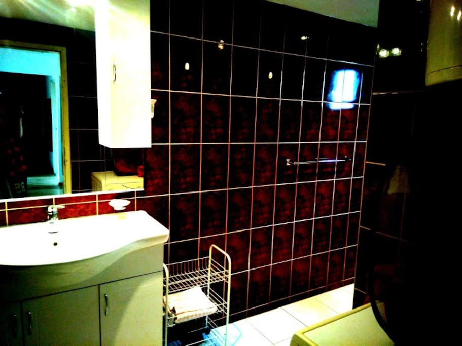 Very spatious big modern bathroom with lot of space.