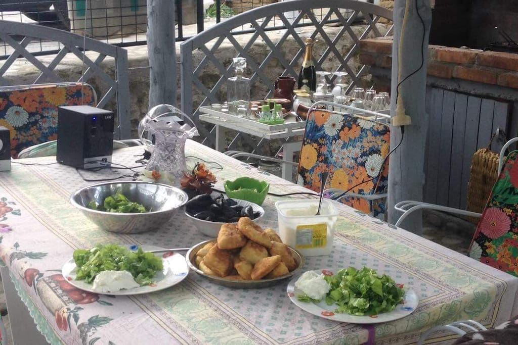 Breakfast and dinner served in our lovely garden