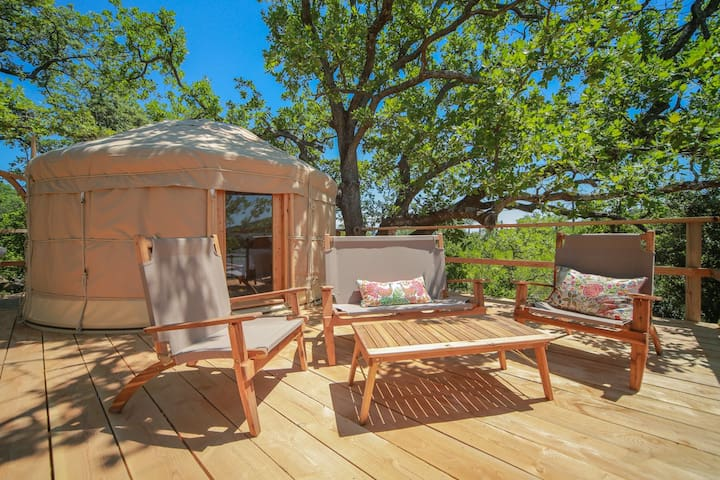 Glamping Yurts in Provence Occitane