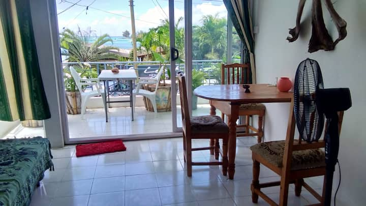 Apartment with one bedroom in Grand Baie, with wonderful sea view and furnished balcony - 200 m from the beach