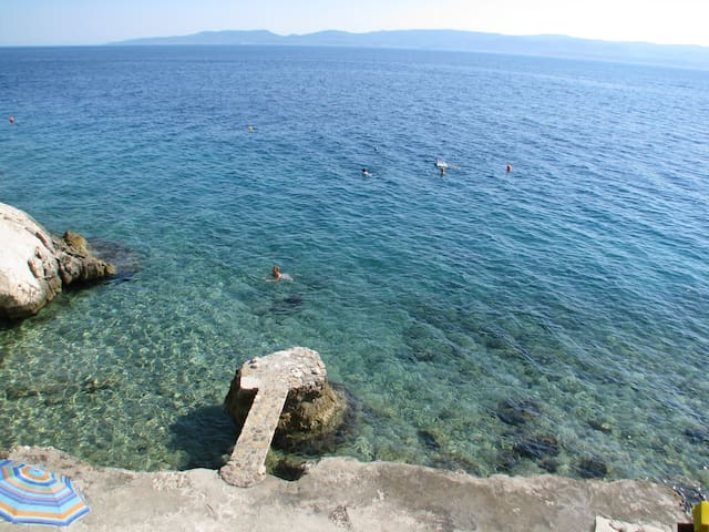 Crystal clear sea awaits you