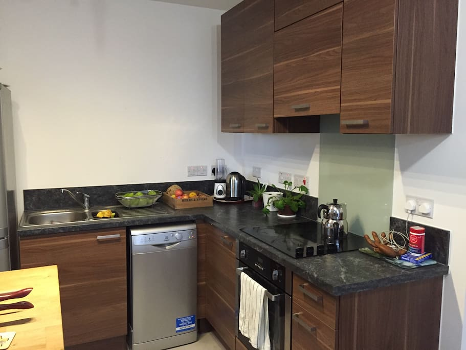 Modern kitchen unit with all necessary appliances