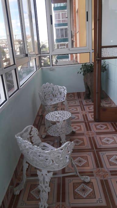 Room's own balcony