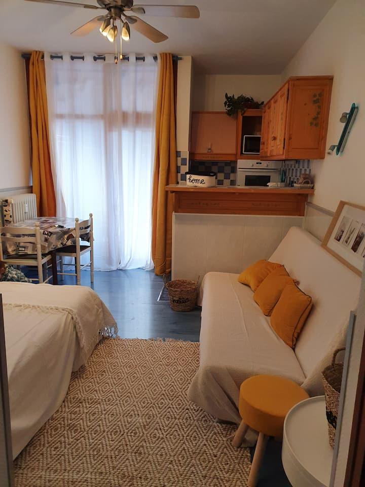Studio confortable et chaleureux 23m2/2pers