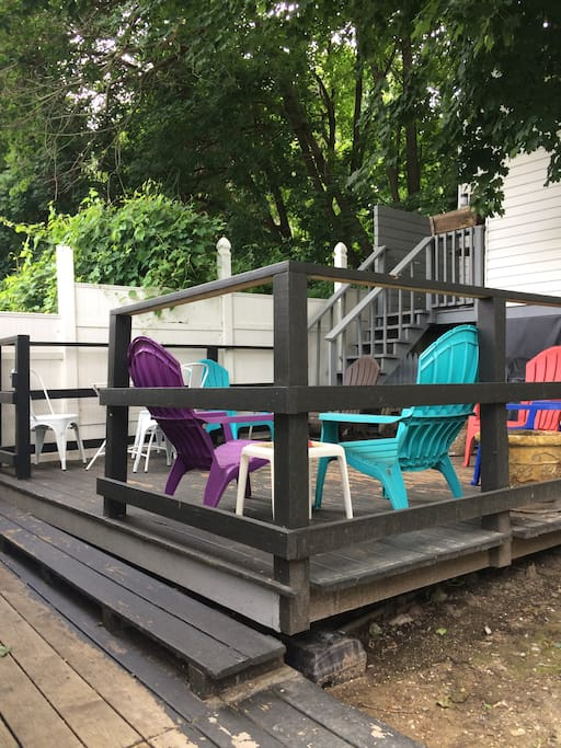 Your private deck.  An oasis in the heart of the city.