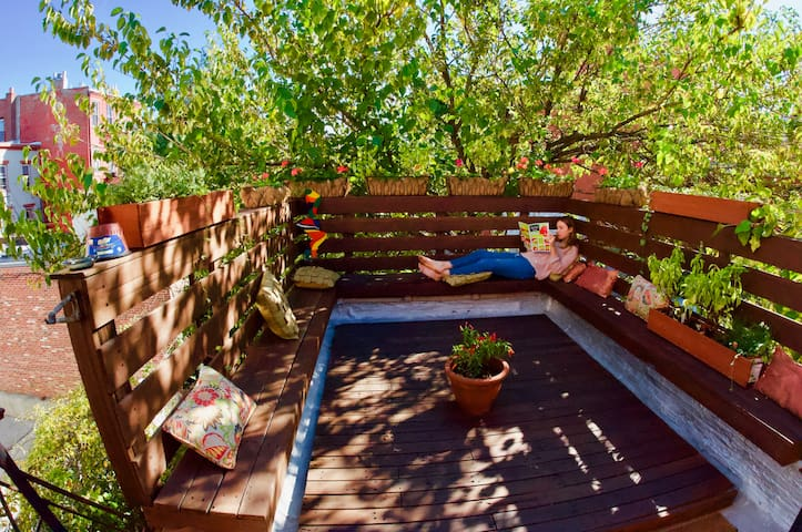 Large apartment with out door living space and garden in North Williamsburg