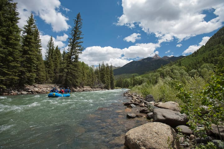 Animas River rafting, enjoy Class I to expert Class V rapids. Durango is a water wonderland of kayaking/fishing/swimming/ tubing in the summer.
