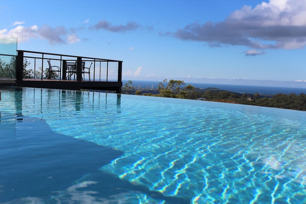 Enjoy the stunning views across the Gold Coast from the beautiful infinity pool.