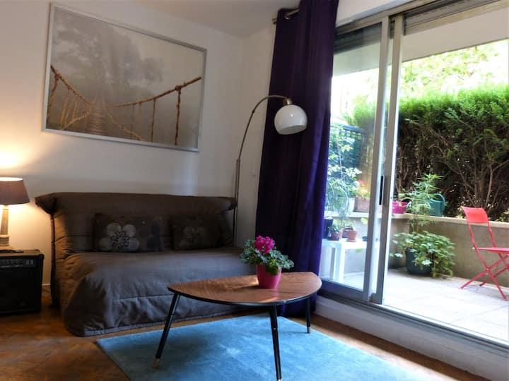Studio avec terrasse aux Portes de Paris