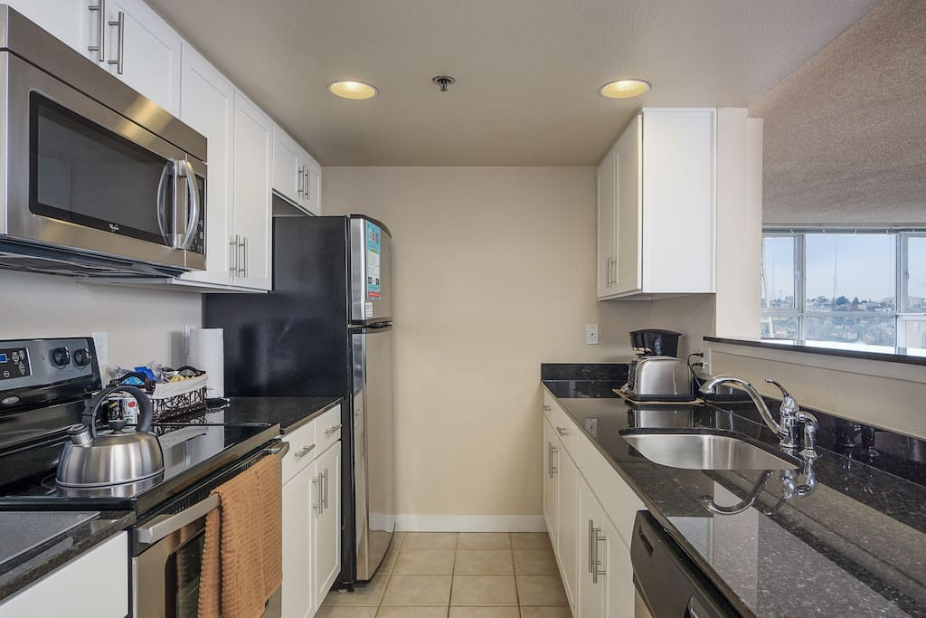 Kitchen at Centennial Tower by Stay Alfred