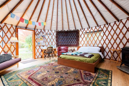 The 36th Street Urban Yurt, in Large Garden Oasis - Boise - Jurtta
