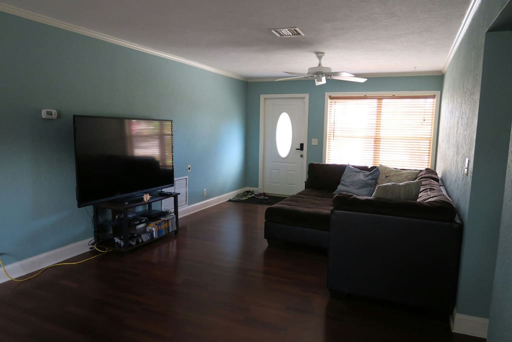 Living room with couch and TV