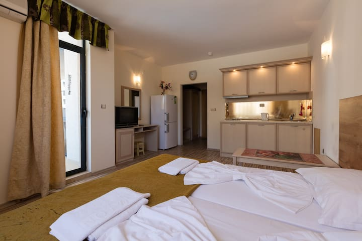 WiFi❤Studio with kitchen & balcony pool view❤D310❤ - Sunny Beach - Apartment