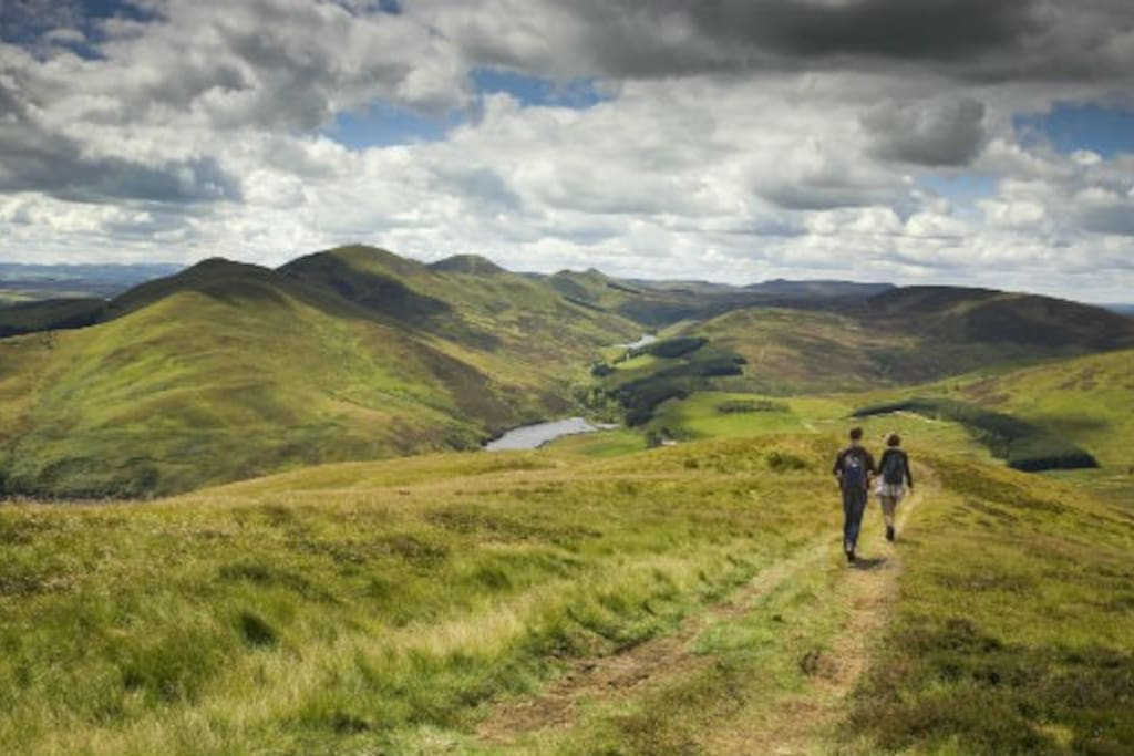 Lovely walks in the Pentlands Regional Park overlooking Edinburgh and the Scottish Borders