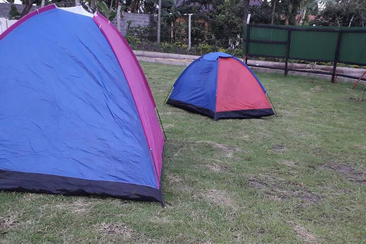Secured grounds can admit up to 10 tents. Have 3 toilets/shower rooms and one urinal room  with 2 basins