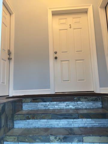 Three Steps Up to Apt. Front Door