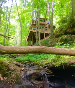 Sugar Creek Treehouse with hot tub