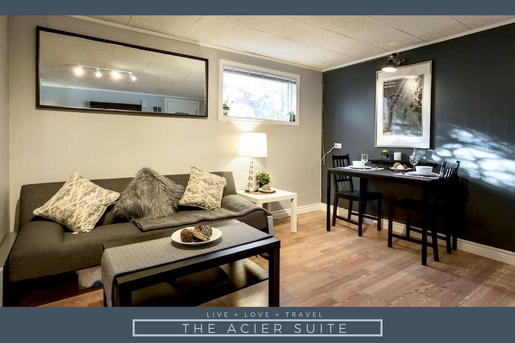 "Mark ""A fine basement suite in a nice location that gives you quick access to memorial drive and the rest of the city. Good amenities and the hosts seem take pride in the space. Would certainly recommend."""
