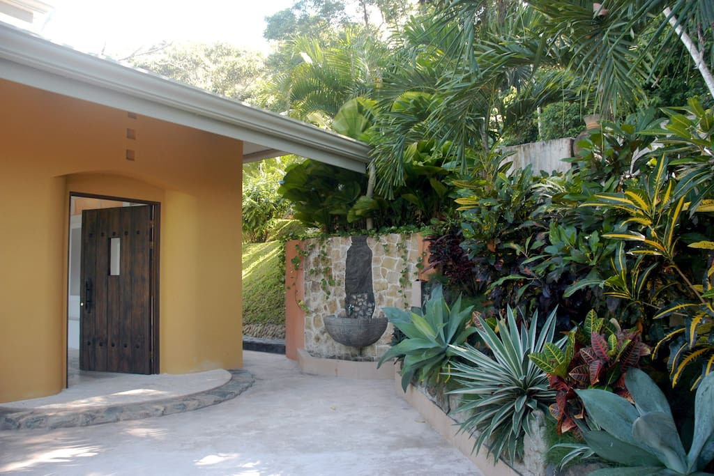 Front Door and Garden Area