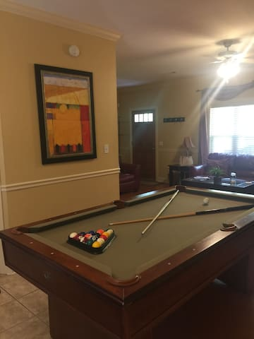 Ready for a game of pool? Located downstairs off the main living area