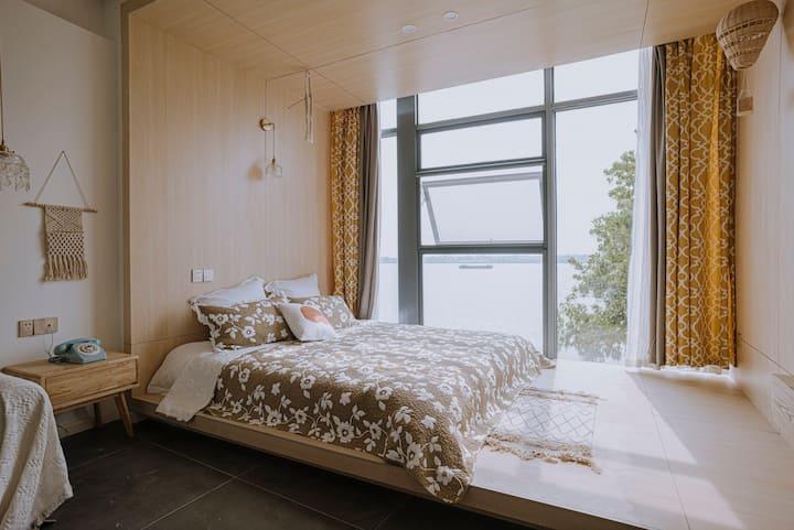 江畔民宿-识间 韩式 温馨 可爱榻榻米 江景大床房