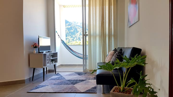 Ap Vista da Serra, 2 quartos, Wi-Fi