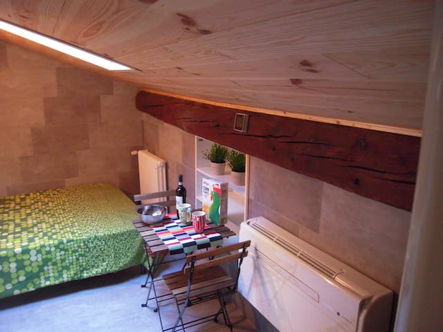 small and sharming attic in the old town