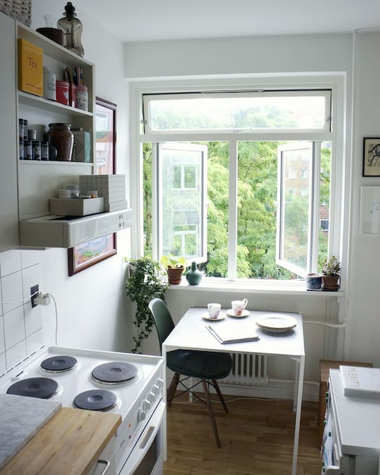 The small kitchen spot where you can enjoy morning coffee