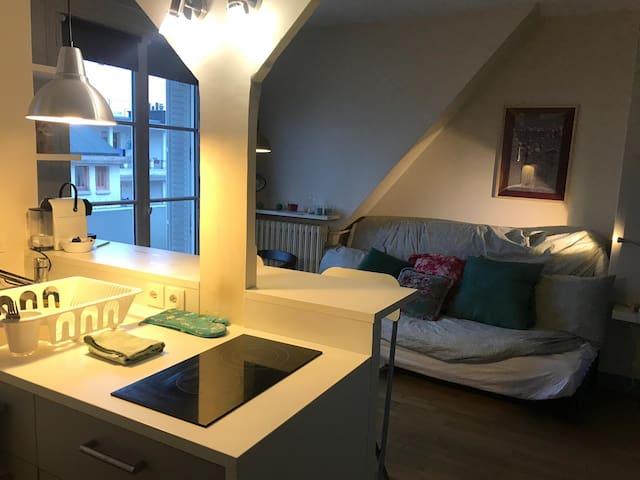 Cosy, Studio parisien sous les toits. Calme
