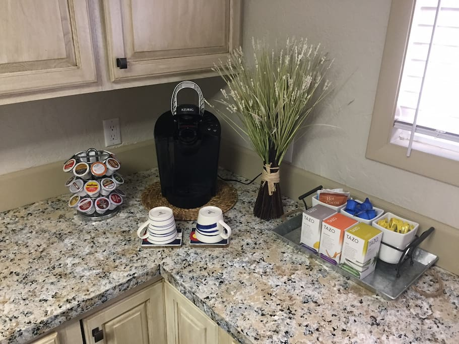 Our coffee and tea selection