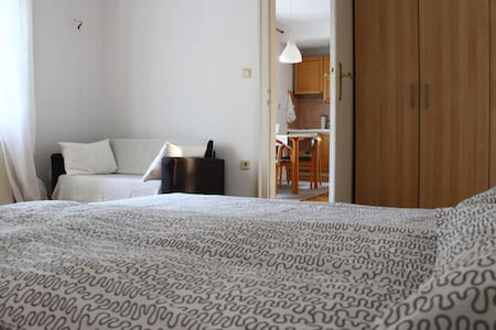 Our comfortable apartment is located in a calm and green area of Ljubljana, only 5 minutes walk form the old city centre. It is situated in an old villa with a view to the park. A bus station and a bicycle rental station are around the corner.